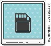 sd card flat vector icon.