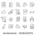 Stock vector simple set of agreement related vector line icons contains such icons as contract agreement 1018163251