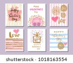 happy  valentine's day. set of... | Shutterstock .eps vector #1018163554
