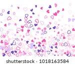 violet pink valentine's day... | Shutterstock .eps vector #1018163584