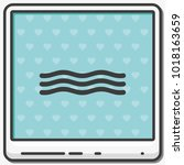 wave flat vector icon. | Shutterstock .eps vector #1018163659