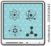 set of atom flat vector icons. | Shutterstock .eps vector #1018163665