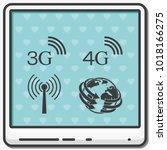 3g  4g symbols. mobile... | Shutterstock .eps vector #1018166275