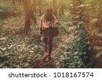 wanderlust concept. stylish... | Shutterstock . vector #1018167574