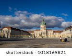 The landscape of Berlin Charlottenburg palace the biggest palace in Berlin Germany