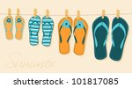 illustration of four pairs of... | Shutterstock .eps vector #101817085