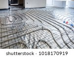 underfloor heating system in... | Shutterstock . vector #1018170919