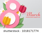 8 March. Women\'s Day Vector...