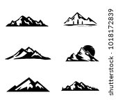 set of vector mountain and... | Shutterstock .eps vector #1018172839