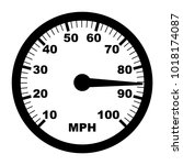 speedometer icon vector | Shutterstock .eps vector #1018174087