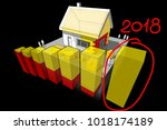 3d illustration of diagram of a ... | Shutterstock .eps vector #1018174189