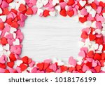 valentines day background with... | Shutterstock . vector #1018176199