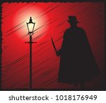 a grunged silhouette of jack... | Shutterstock .eps vector #1018176949