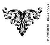 vintage baroque frame scroll... | Shutterstock .eps vector #1018177771
