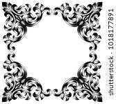 vintage baroque frame scroll... | Shutterstock .eps vector #1018177891