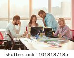 team of creative designers... | Shutterstock . vector #1018187185