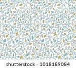 herbal seamless pattern. many... | Shutterstock .eps vector #1018189084