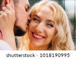 close up of a beautiful girl... | Shutterstock . vector #1018190995