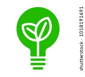 green eco recycle energy bulb... | Shutterstock .eps vector #1018191691