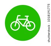 circle green eco bicycle icon... | Shutterstock .eps vector #1018191775