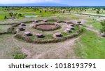 aerial. traditional masai...   Shutterstock . vector #1018193791