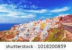 incredible view over island...   Shutterstock . vector #1018200859