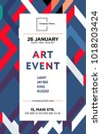 the exhibition art flayer ... | Shutterstock .eps vector #1018203424