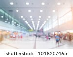 abstract blur of airport for... | Shutterstock . vector #1018207465