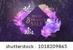 8 march sale background with... | Shutterstock .eps vector #1018209865