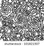 seamless rose pattern. | Shutterstock .eps vector #101821507