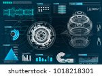 hud ui for app. futuristic user ... | Shutterstock .eps vector #1018218301