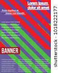 banner  brochure  flyer and... | Shutterstock .eps vector #1018222177