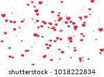 red and pink heart. valentine's ... | Shutterstock . vector #1018222834