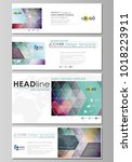 social media and email headers... | Shutterstock .eps vector #1018223911
