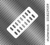 medical pills sign. vector....   Shutterstock .eps vector #1018229359
