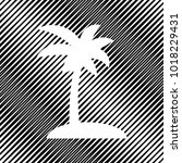 coconut palm tree sign. vector. ... | Shutterstock .eps vector #1018229431