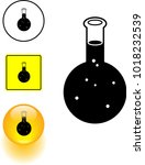chemical round flask symbol... | Shutterstock .eps vector #1018232539