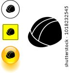 hard hat symbol sign and button | Shutterstock .eps vector #1018232545