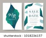 set of wedding card template... | Shutterstock .eps vector #1018236157