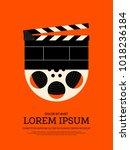 movie and film modern retro... | Shutterstock .eps vector #1018236184