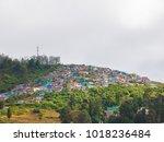 city scape on nilgiri mountains ... | Shutterstock . vector #1018236484