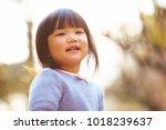 lovely little asian girl... | Shutterstock . vector #1018239637