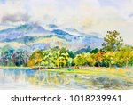 Watercolor Landscape Original...