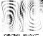 abstract monochrome halftone... | Shutterstock .eps vector #1018239994