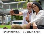 portrait of mature multi ethnic ...   Shutterstock . vector #1018245784