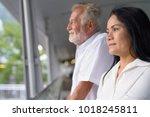 portrait of mature multi ethnic ... | Shutterstock . vector #1018245811