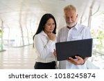 portrait of mature multi ethnic ... | Shutterstock . vector #1018245874