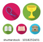a cup of wine  islamic beads ... | Shutterstock .eps vector #1018252651