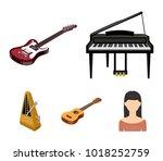 musical instrument cartoon...   Shutterstock .eps vector #1018252759
