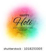 happy holi indian spring...   Shutterstock .eps vector #1018253305